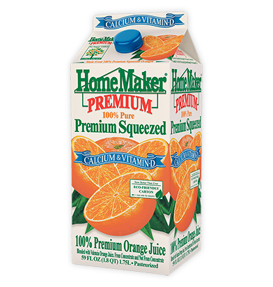 HomeMaker Premium Calcium Orange Juice with Calcium & Vitamin D