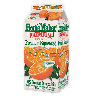 HomeMaker Premium Original Orange Juice with No Pulp